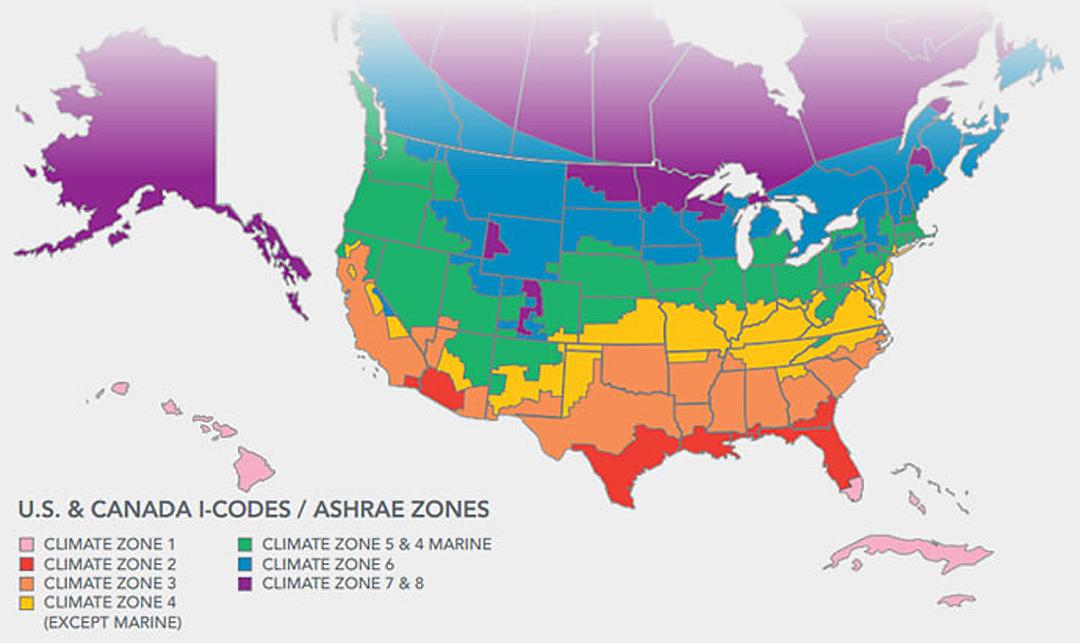 Usa And Canada Climate Map Climate Zone Map Including Canada   GreenBuildingAdvisor